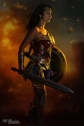 Wonder Woman on Fire by Ivy95