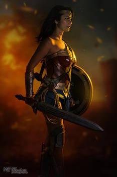 Wonder Woman on Fire