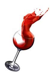 woman and wine by kazimdoku