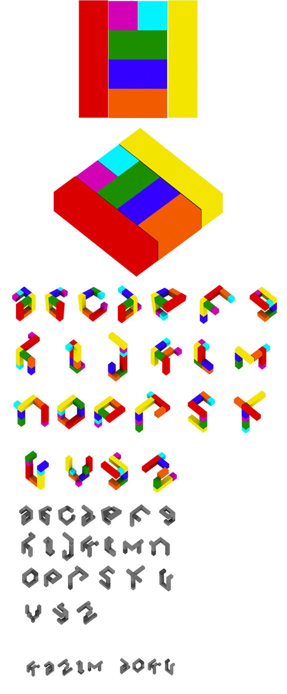 3d tangram by kazimdoku