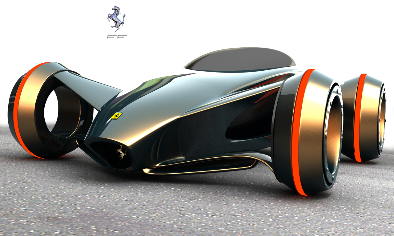 ferrari future car design by kazimdoku