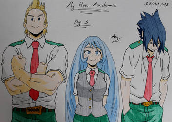 Boku no hero academia : The Big 3 by AlienGirl34