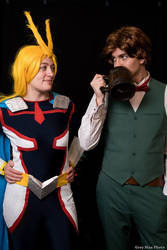 Cosplay : All Might (Young Age) and Escanor by AlienGirl34