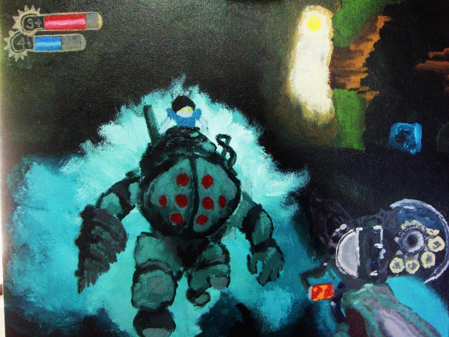 bioshock 2 screenshot painting by selgaunt - Painting Games 2