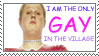 Stamp: Only gay in the village by Zetra