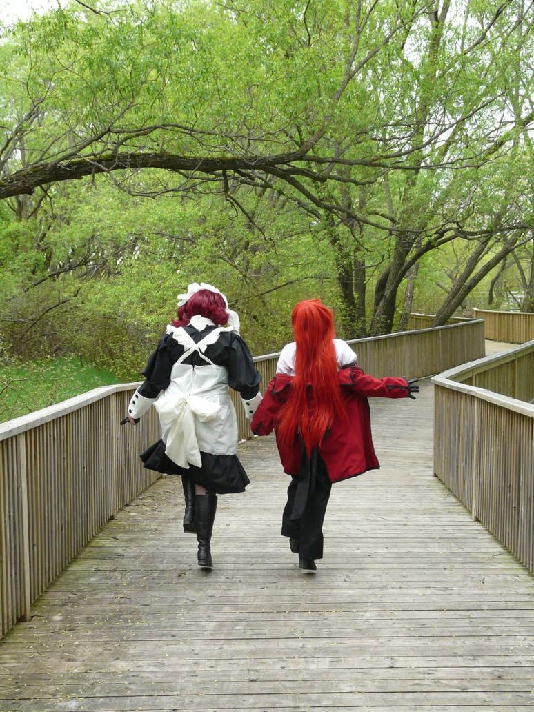 Kuro: His servants, skipping.