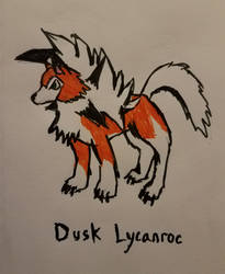 Dusk Lycanroc for Ultra Sun and Ultra Moon by TriforceOfWill