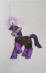 Twilight Sparkle in battle gear? by TriforceOfWill