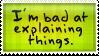 'Explaining' Stamp