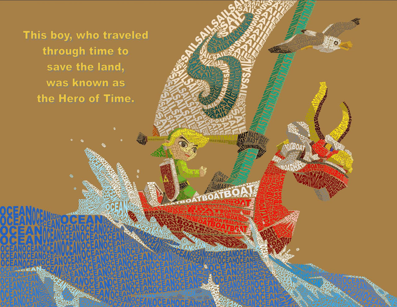 WindWaker Typography by Peruserofpieces