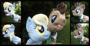 Derpy and Doctor Hooves Puppets