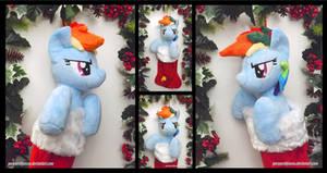 Rainbow Dash Christmas Stocking
