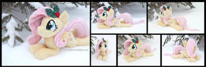 Winter Fluttershy with Holly