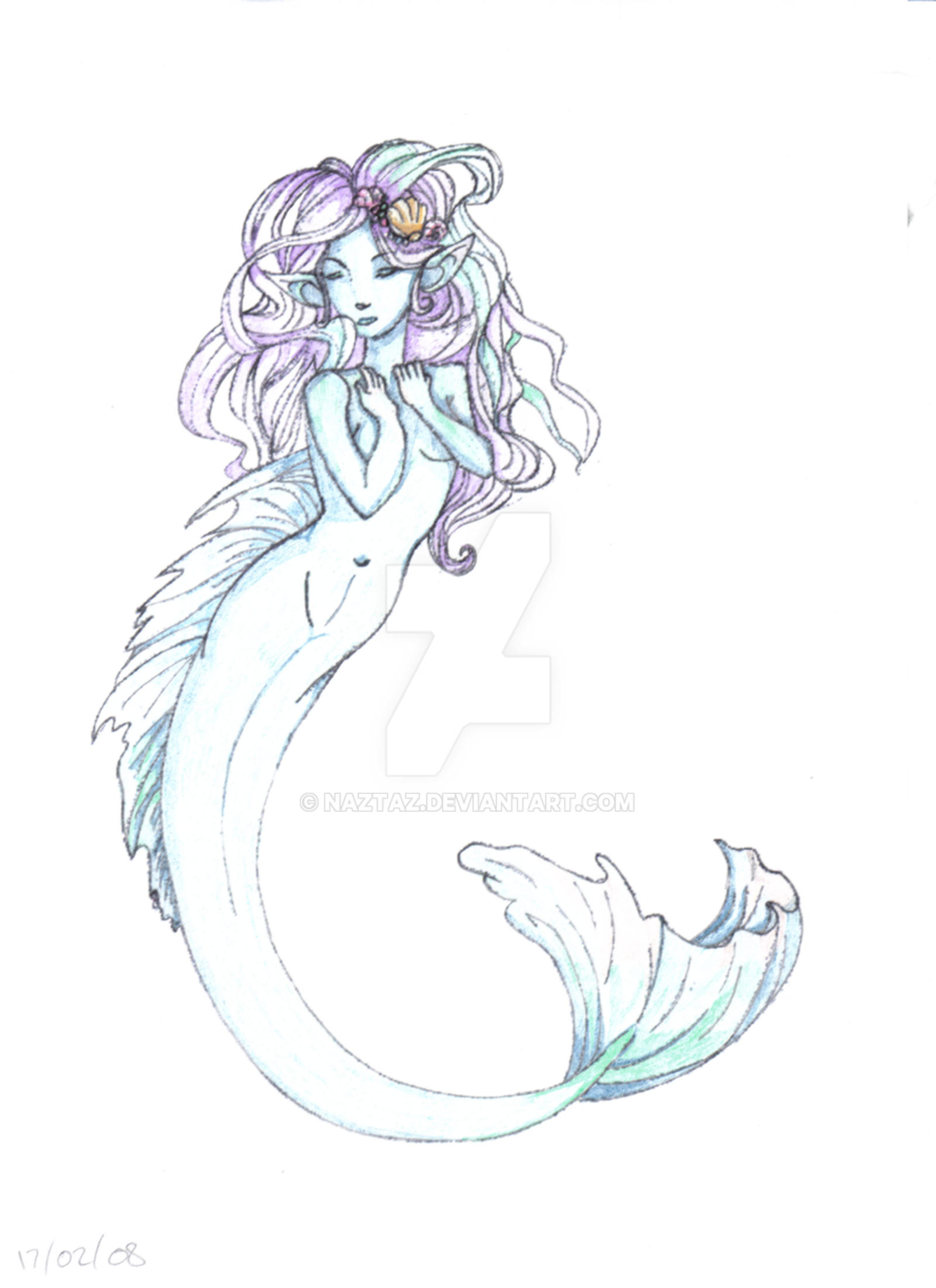 mermaid colour by naztaz mermaid colour by naztaz