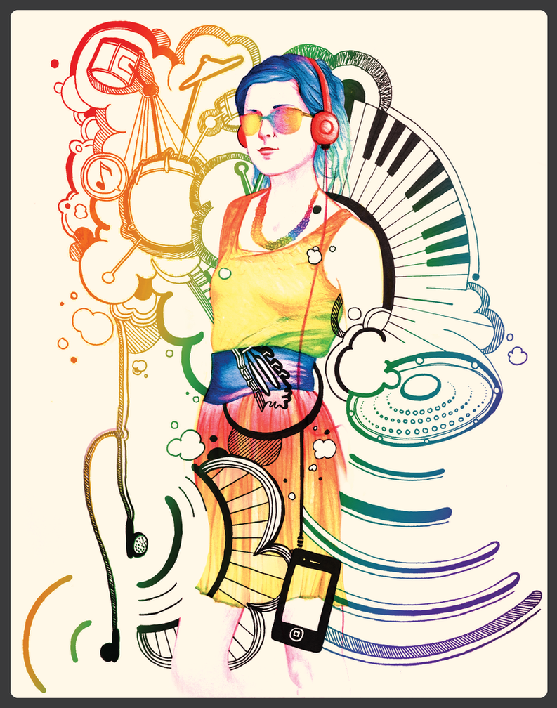 Music Rainbow Girl by Zodiac-Salad