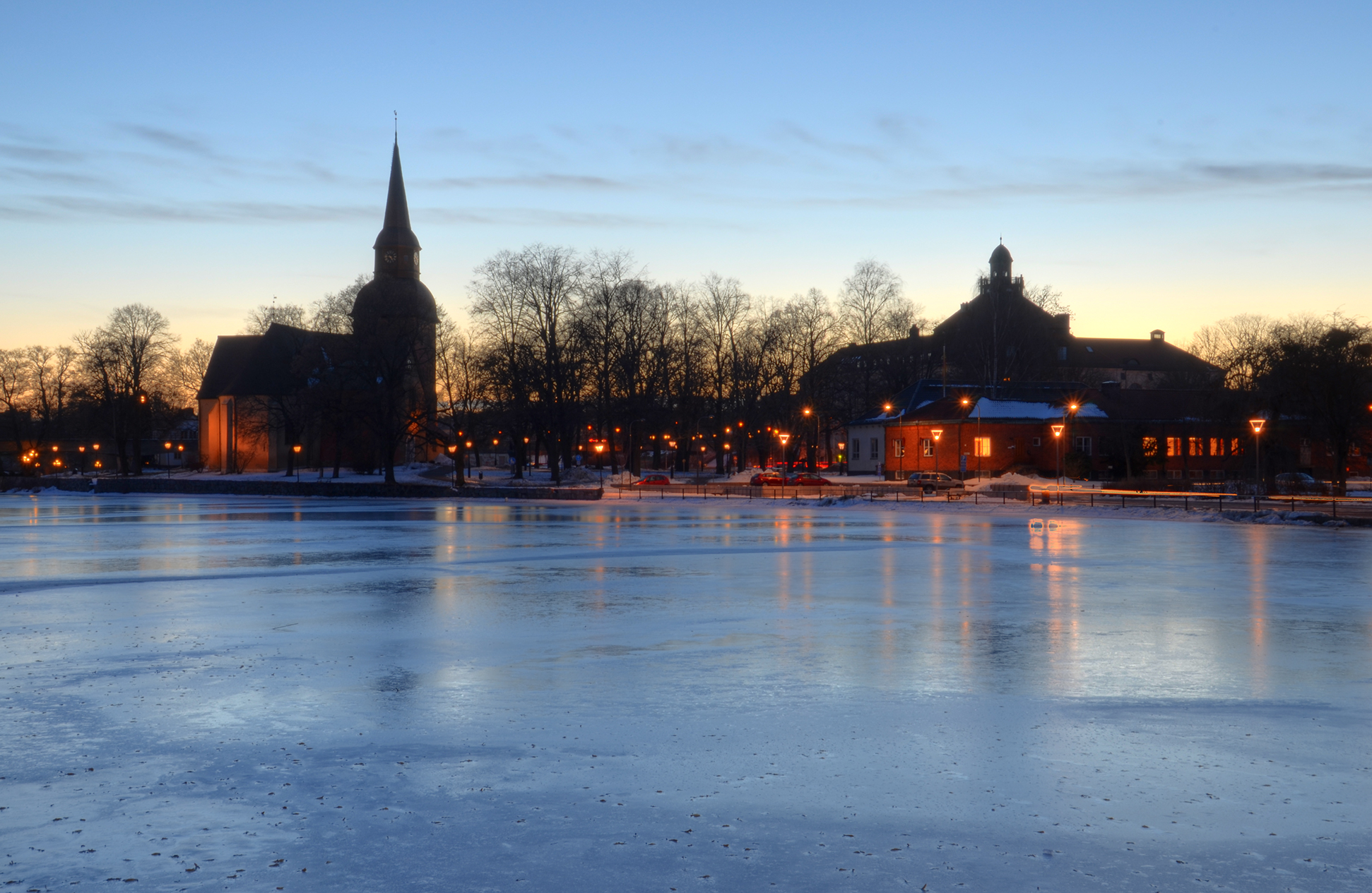 Church and Blue Ice by HenrikSundholm