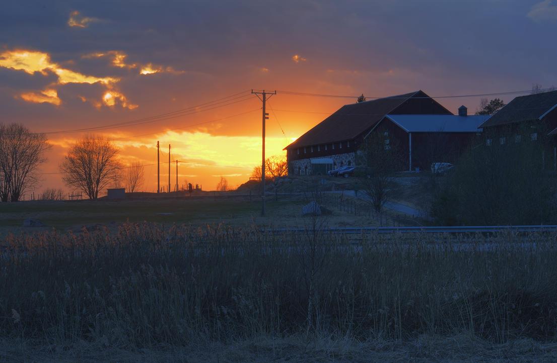 Sunset at the Farm II by HenrikSundholm