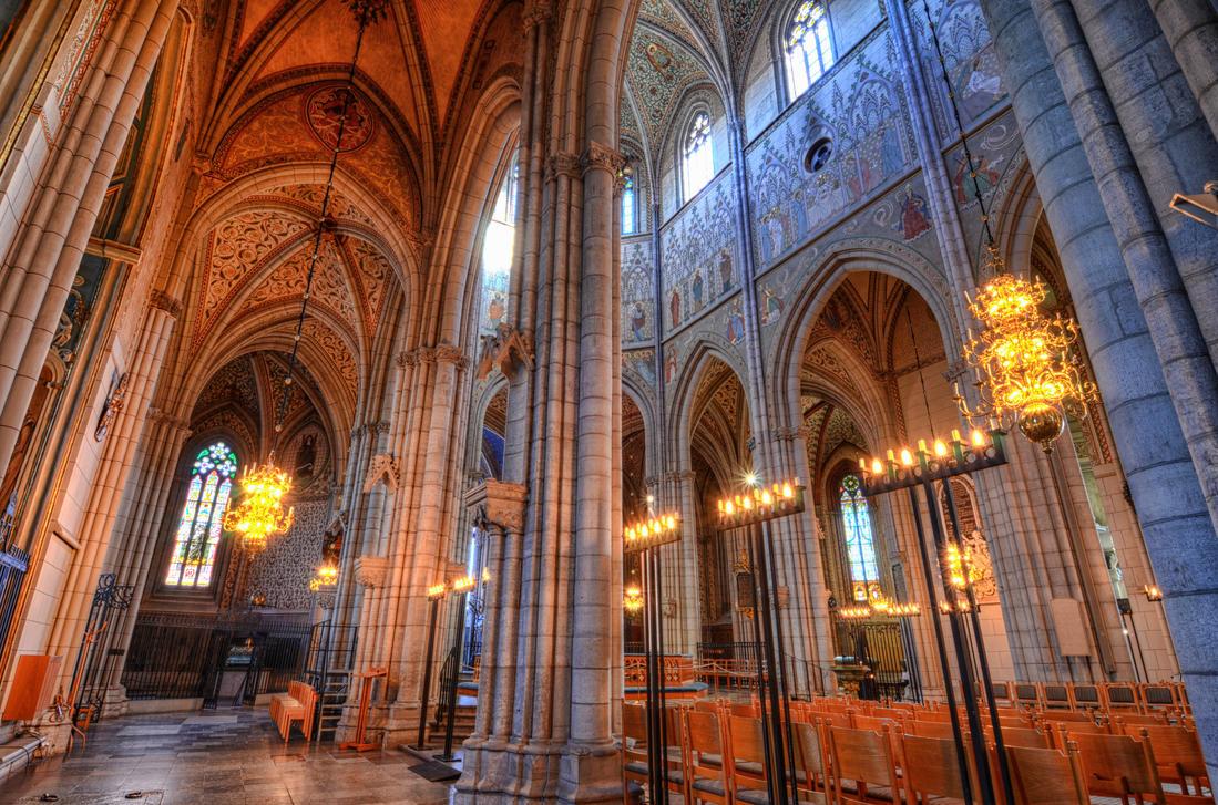 Uppsala Cathedral II by HenrikSundholm
