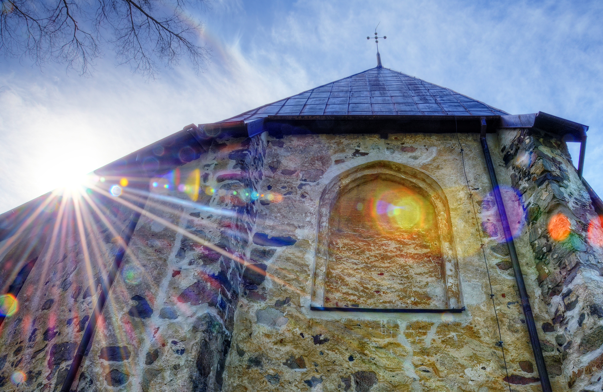Sunstar of Nicolai Church by HenrikSundholm