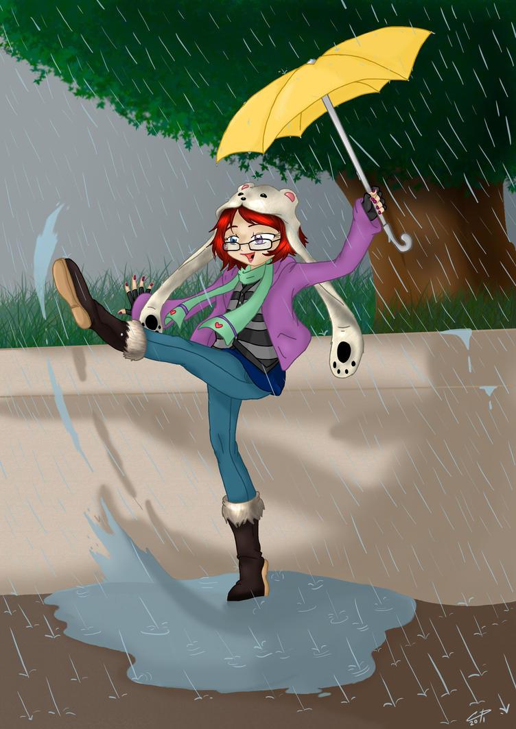 In the rain Kiseki-Winter by Hotaru-oz