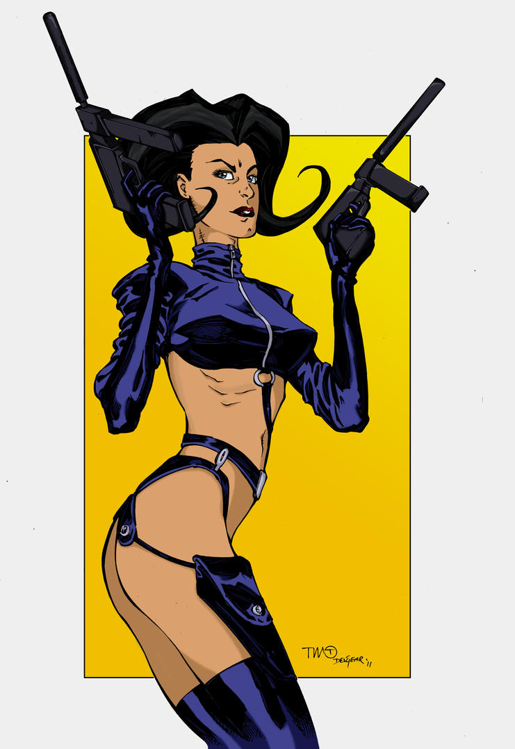 Aeon Flux coloured by Hotaru-oz