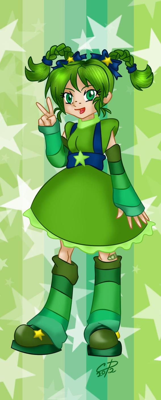 Patty O' Green bookmark design by Hotaru-oz