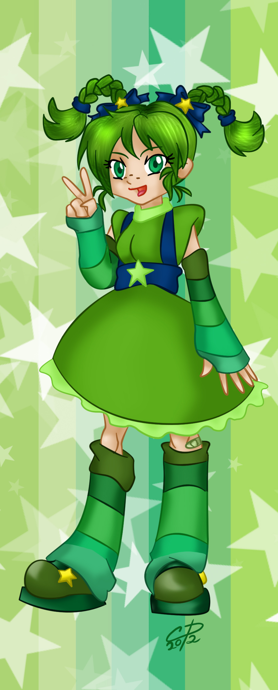 Patty O' Green bookmark design by Hotaru-oz