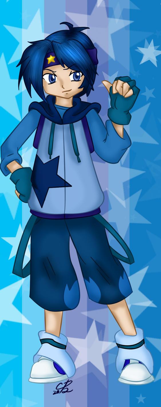 Buddy Blue bookmark design by Hotaru-oz