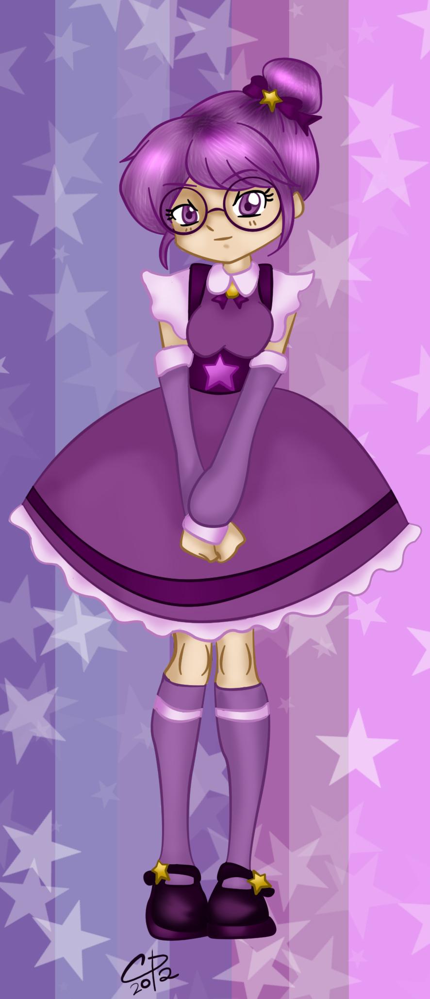 Shy Violet bookmark design by Hotaru-oz