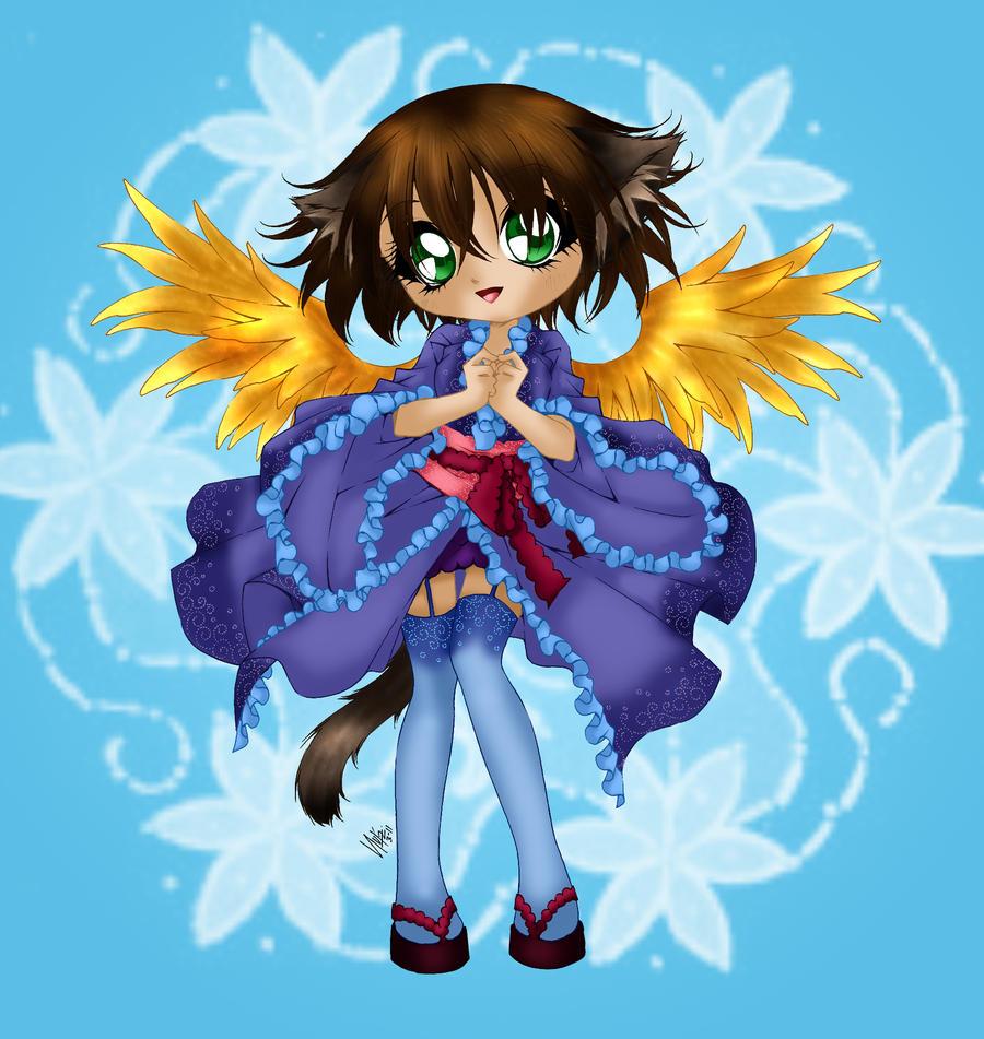 Saika coloured by Hotaru-oz