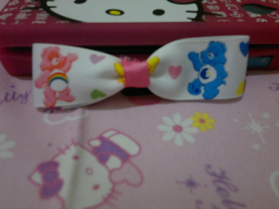 Care bears hair bow by Hotaru-oz