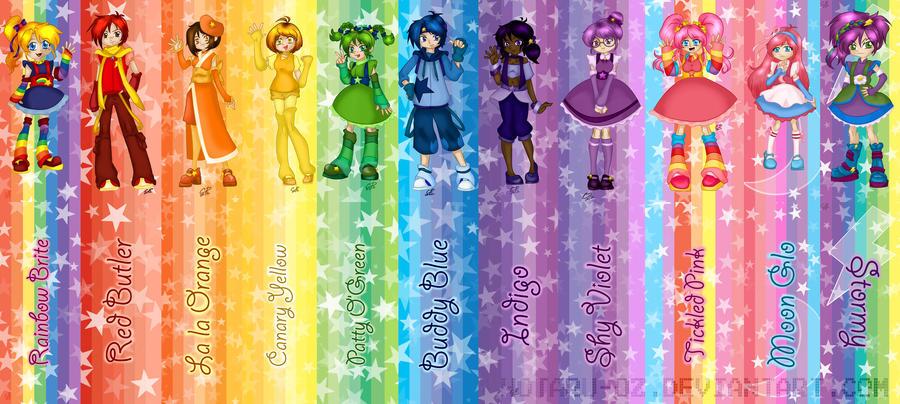 Rainbow Brite complete bookmark set by Hotaru-oz
