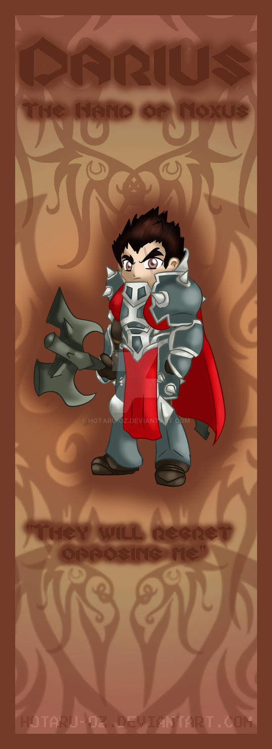 Darius bookmark design by Hotaru-oz