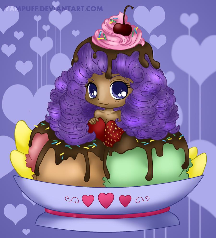 Icecream girl by Yampuff coloured by Hotaru-oz