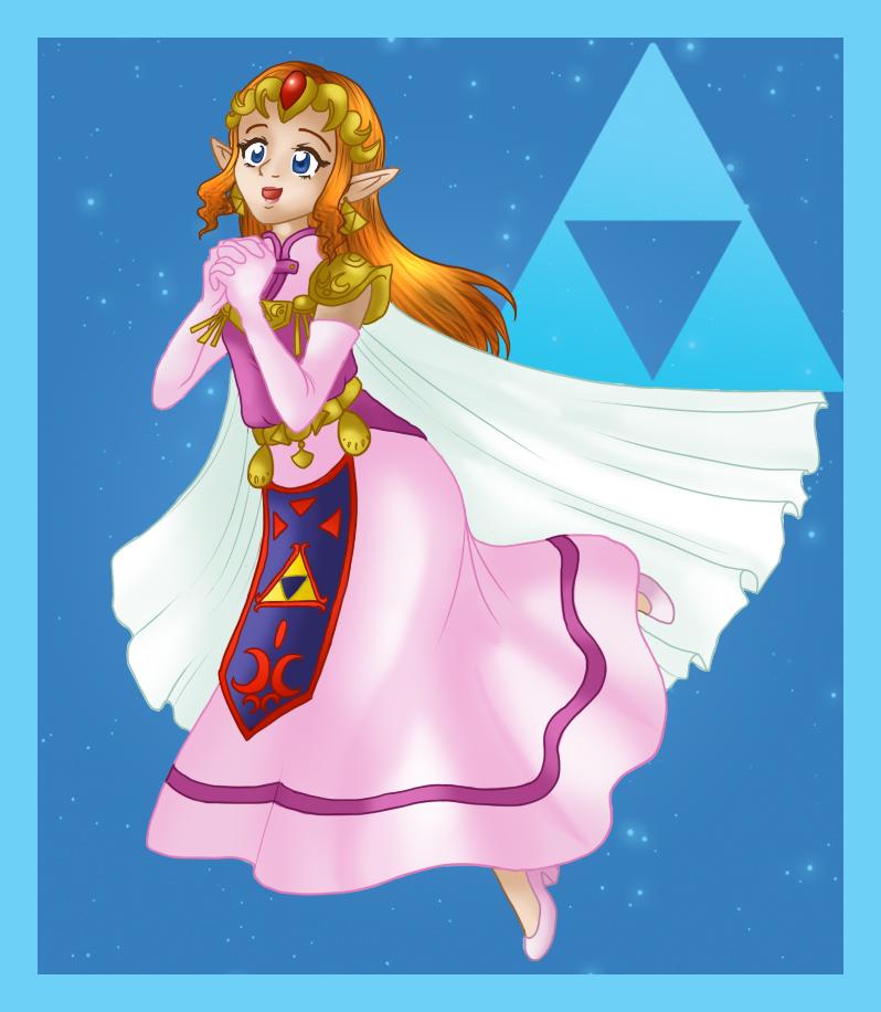Zelda coloured by Hotaru-oz