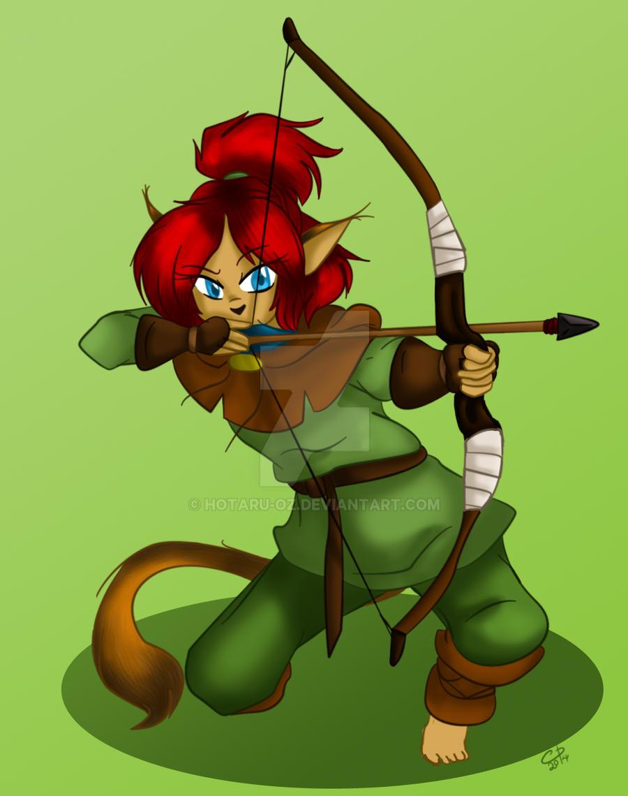 Archery practice by Hotaru-oz