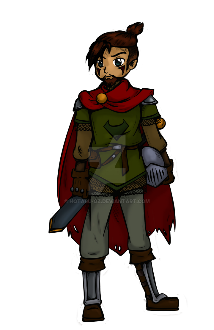 Male Warrior Concept art by Hotaru-oz