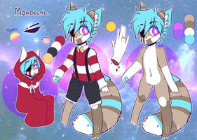 Mordecai || Reference Sheet || by AmiiCommissions
