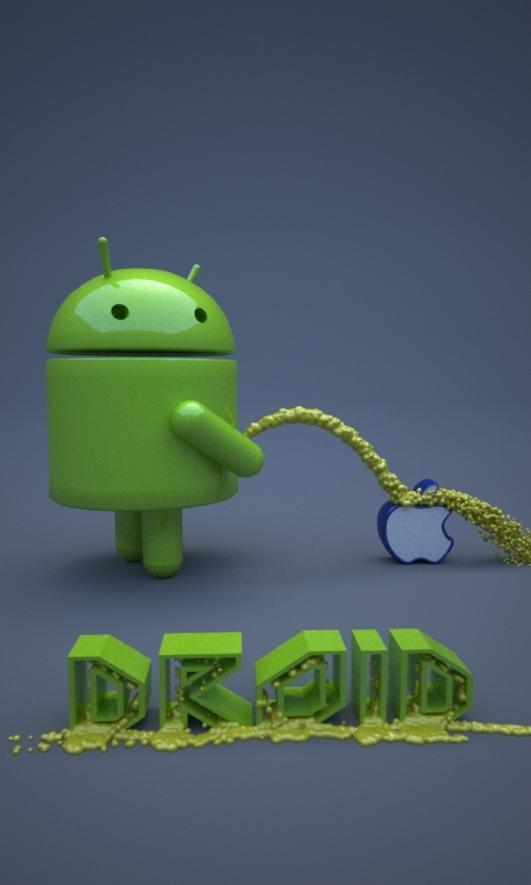 Android Urinate on Apple by buckeyo