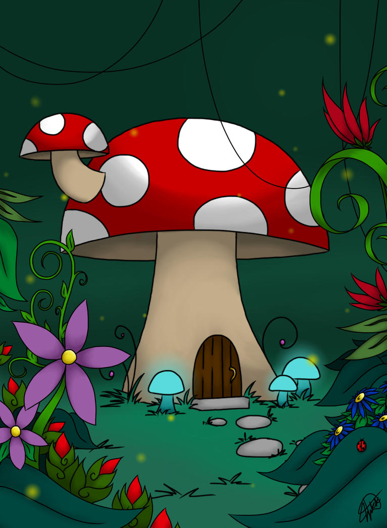 Enchanted Mushroom House by o0VinylScratch0o