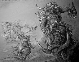 Inktober - Warhammer orcs and goblins by cutesexyrobutts