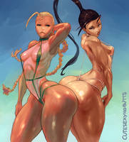 Cammy and Ibuki by cutesexyrobutts