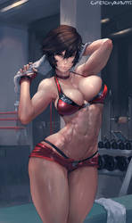 #346 Rumble Roses Reiko Hinomoto by cutesexyrobutts
