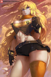 Patreon hi-res poll - Yang Xiao Long from RWBY by cutesexyrobutts