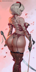 2b red lingerie by cutesexyrobutts