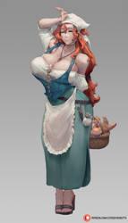 #401 baker character, Debauchery in Caelia Kingdom by cutesexyrobutts