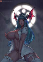 #432 nurse morrigan by cutesexyrobutts