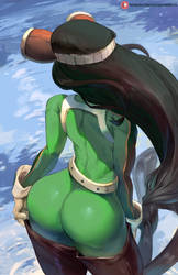 tsuyu (my hero academia) by cutesexyrobutts