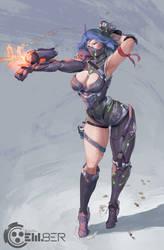 em8er character design - front
