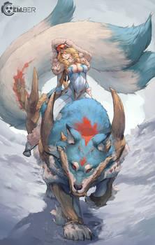 em8er skin - winter pilot and wolf mount